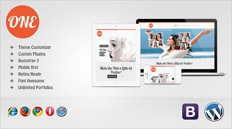 One Mobile First Multipurpose WordPress Theme
