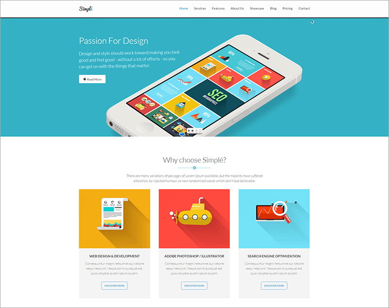 One Page Bootstrap WordPress Theme
