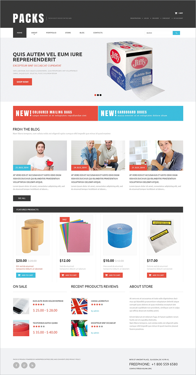 Packing Service Provider WooCommerce Theme