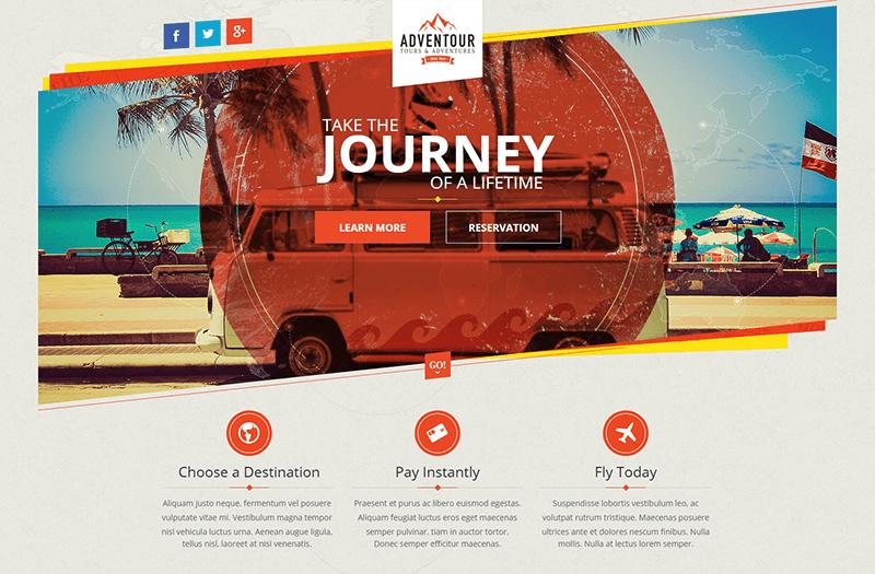 Pagewiz Travel Landing Page