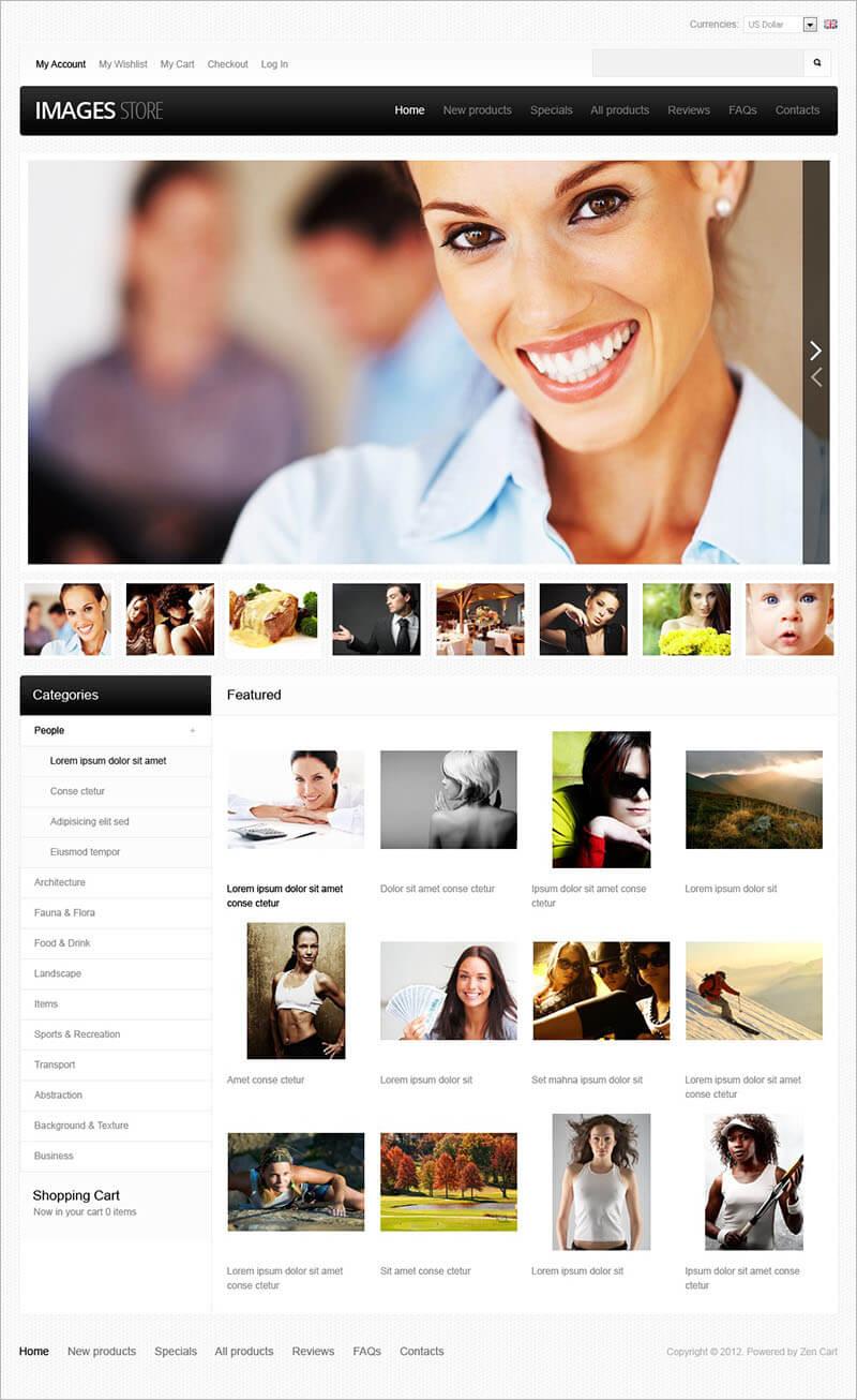 Photography Store Zen Cart Template