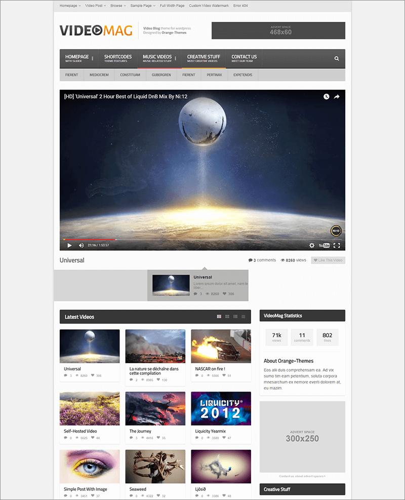Powerful Video WordPress Theme