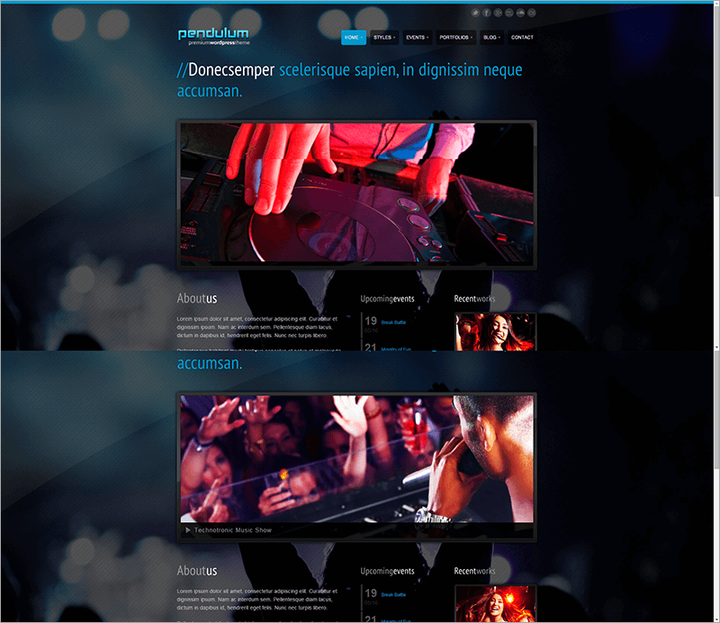 Premium DJ WordPress Theme
