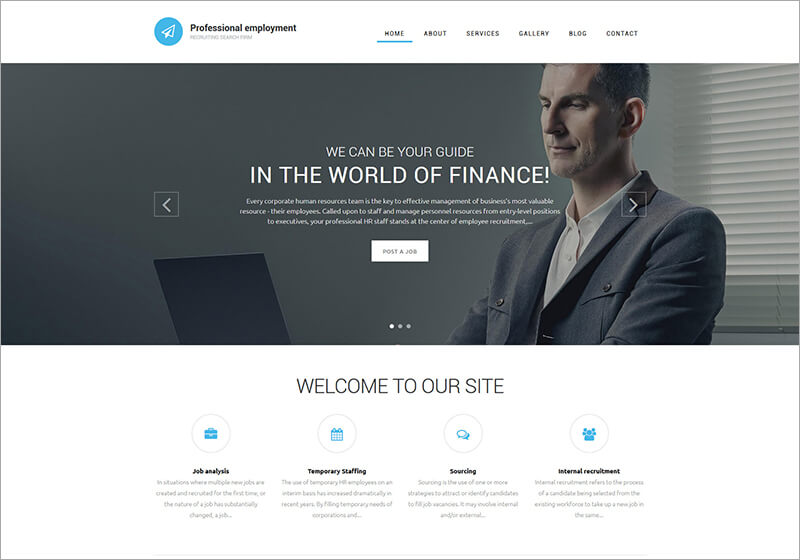 Professional Employment Drupal Template