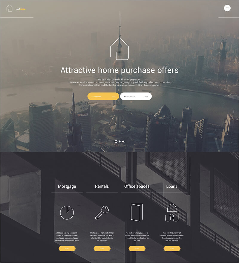 Real Estate Bootstrap WordPress Theme