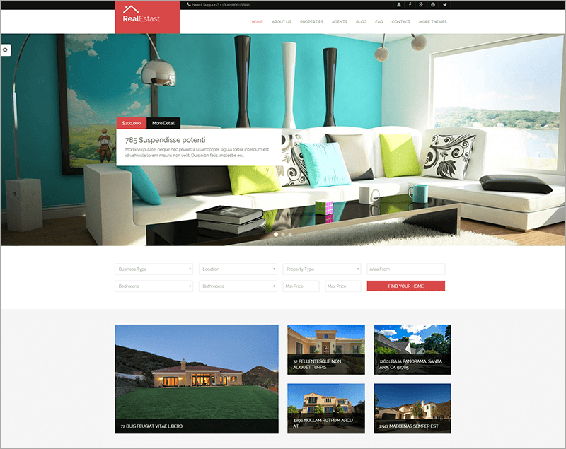 Real Estate & Business Drupal Theme
