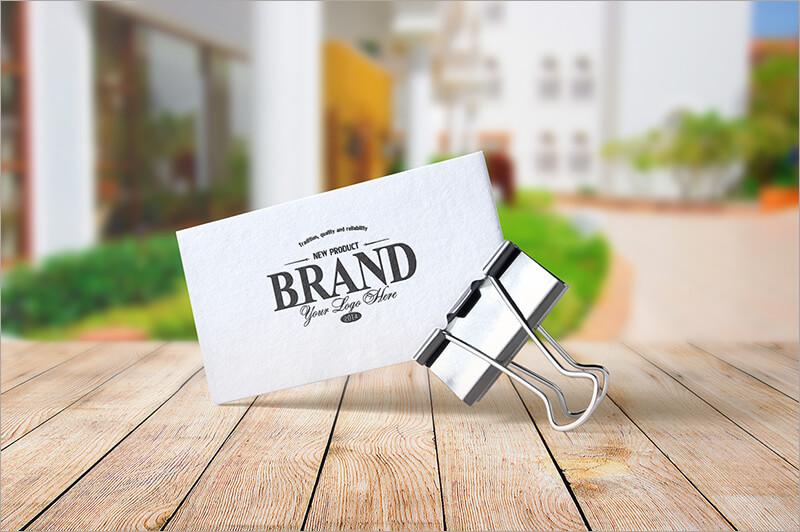 Realistic Business Card Mock ups