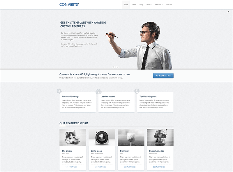 Responsive Bootstrap WP Template