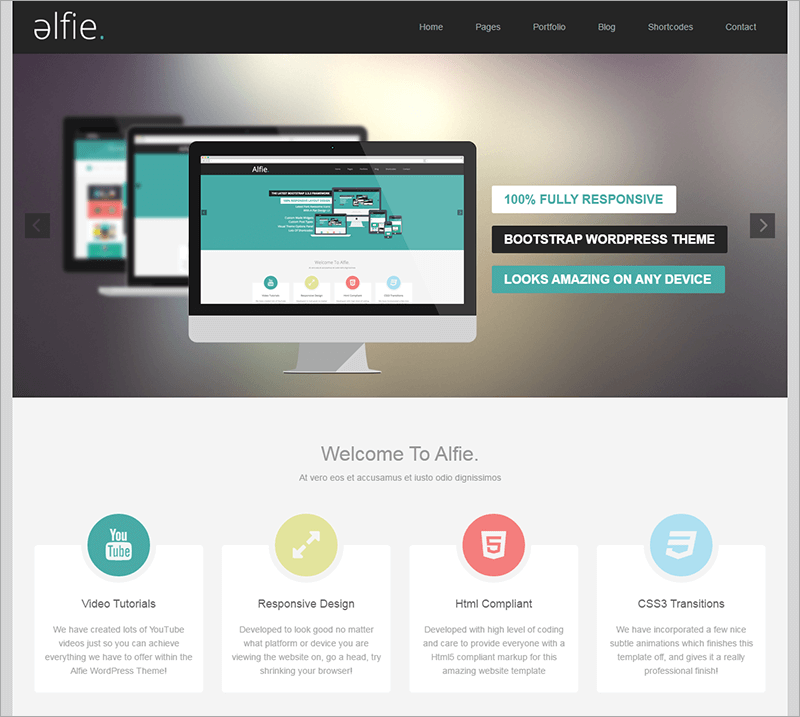 Responsive Bootstrap WordPress Template