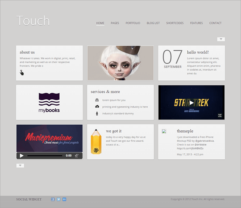 Responsive & Bootstrap WordPress Theme