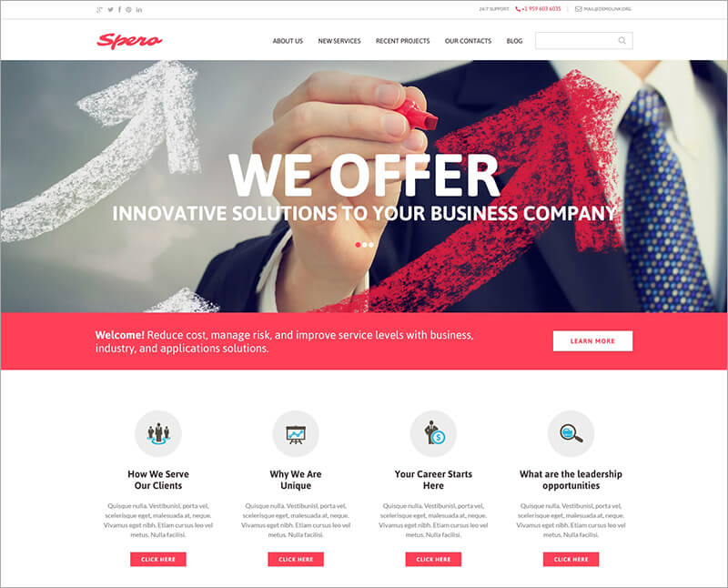 Responsive Business Drupal Template