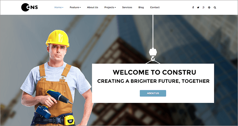 Responsive Construction Joomla Template