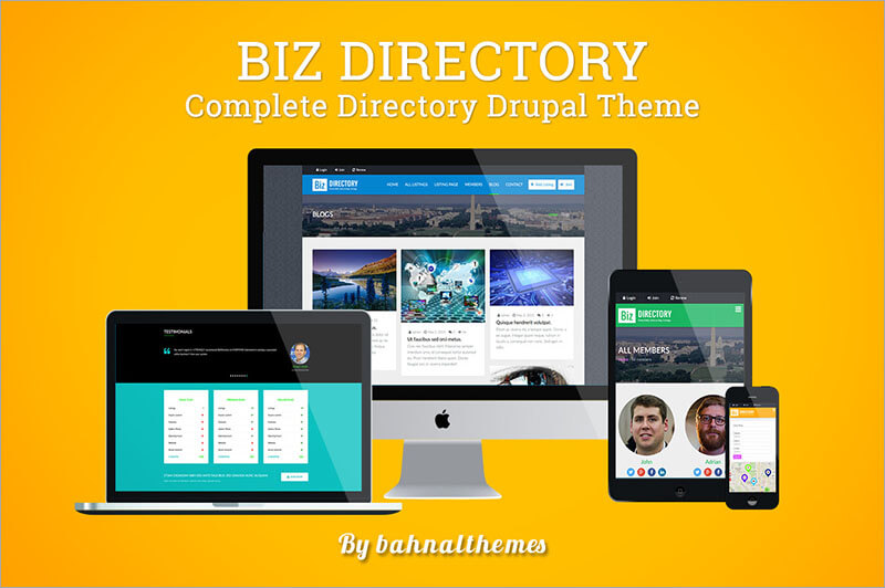 Responsive Directory Listing Drupal Theme