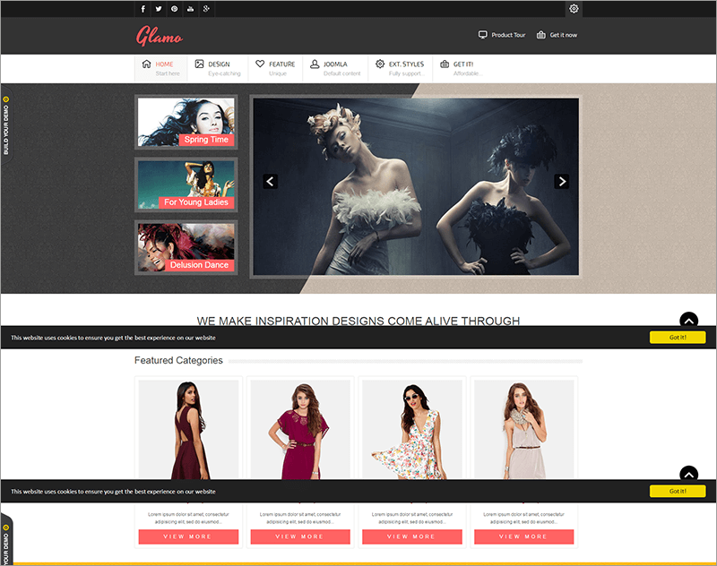 Responsive Fashion Joomla Theme