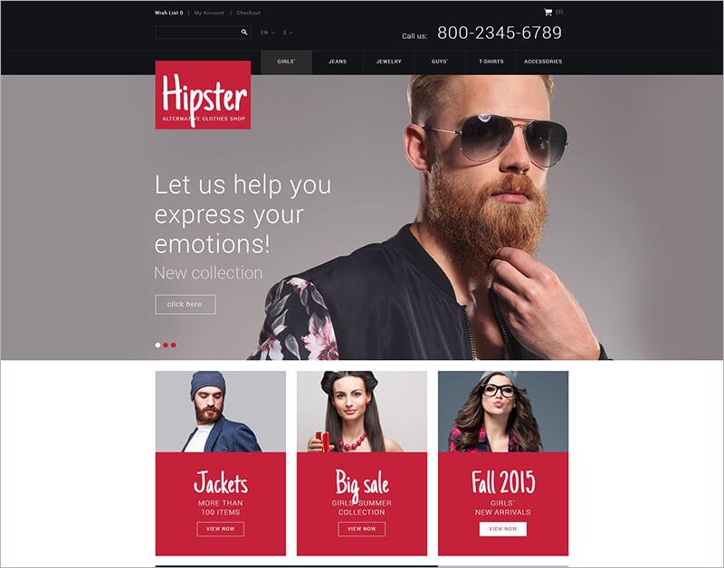 Responsive Fashion PHP Theme
