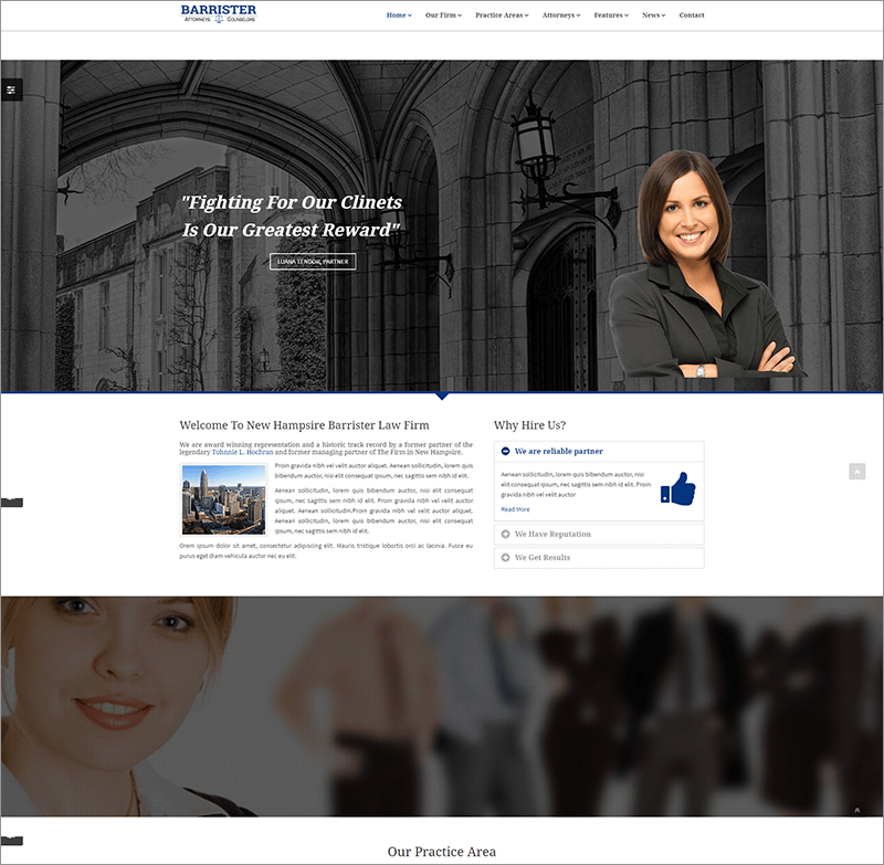 Responsive Law Business HTML Template