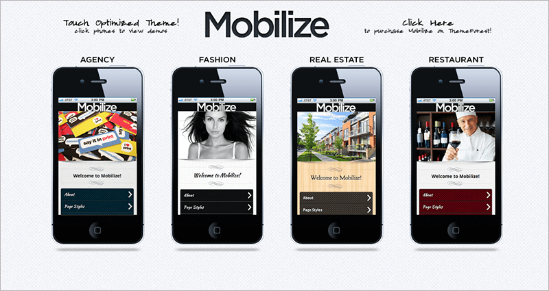 Responsive Mobile WordPress Theme