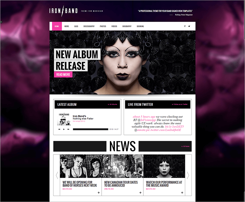 Responsive Music Band & DJ Template