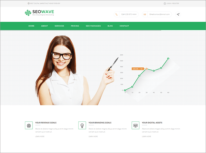Responsive SEO Website Joomla Template