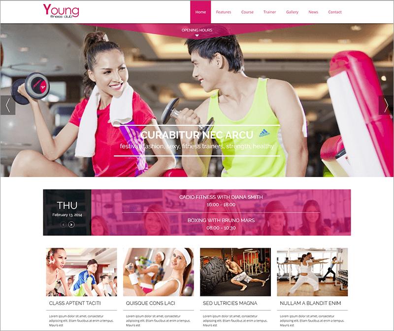 Responsive Spa & Fitness Joomla Template
