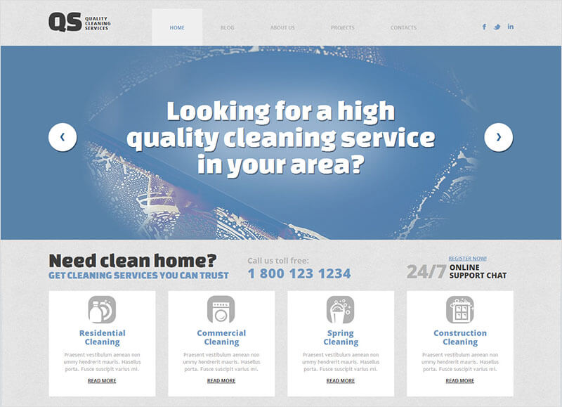 Responsive WordPress Cleaning Theme