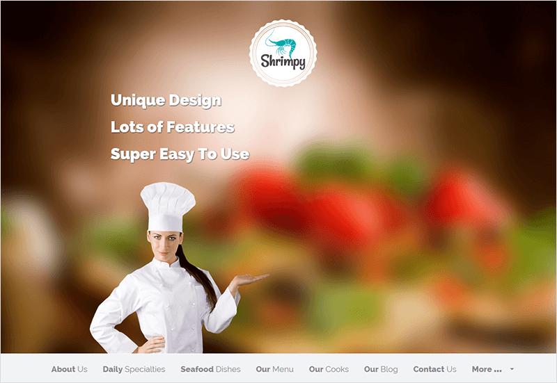 Restaurant WordPress Flat Template