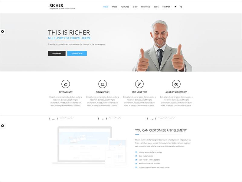 Richer Multi Purpose eCommerce Drupal Theme