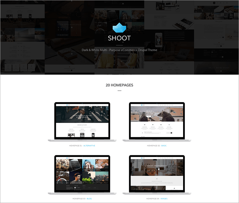 Shoot Multi-purpose eCommerce Drupal Theme