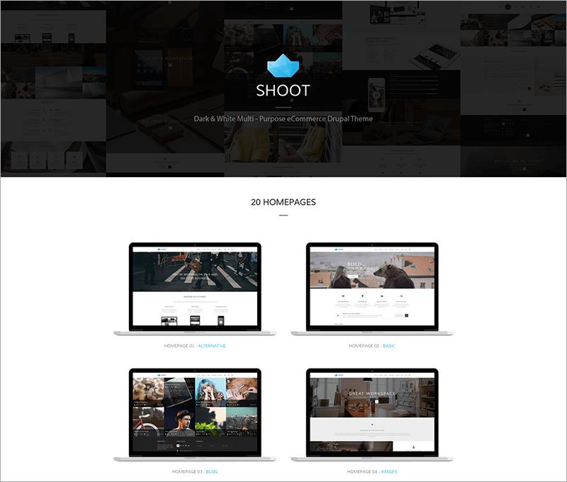 Shoot Multi-purpose eCommerce Drupal Theme