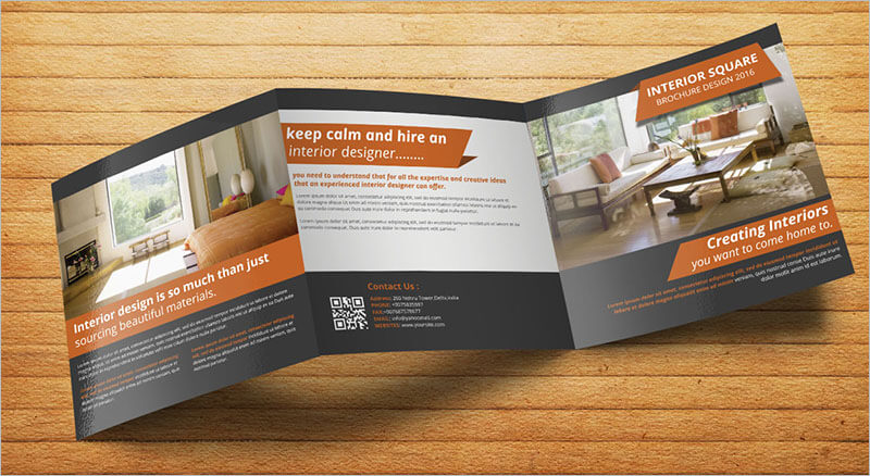 Square Interior Trifold Brochure
