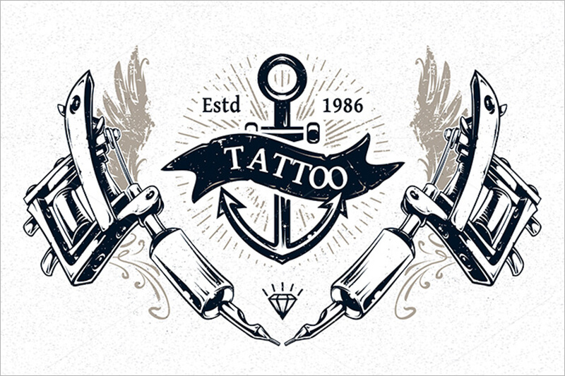Tattoo Studio Prints Template