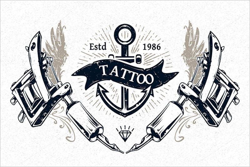 Tattoo Studio Prints Template