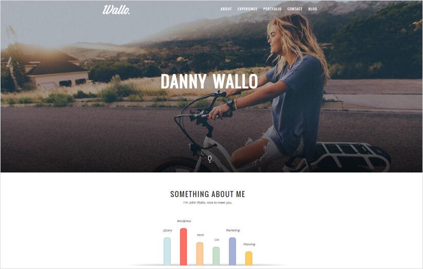 WordPress Flat Portfolio Theme