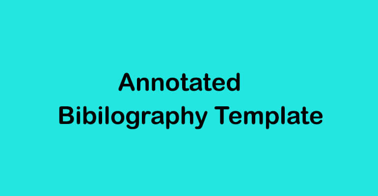 Annotated Bibliography Templates