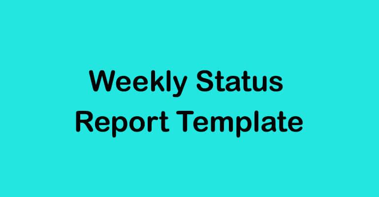 Status Report Templates