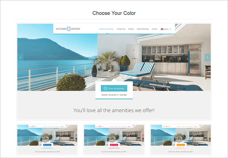 Accommodation Landing Page Template