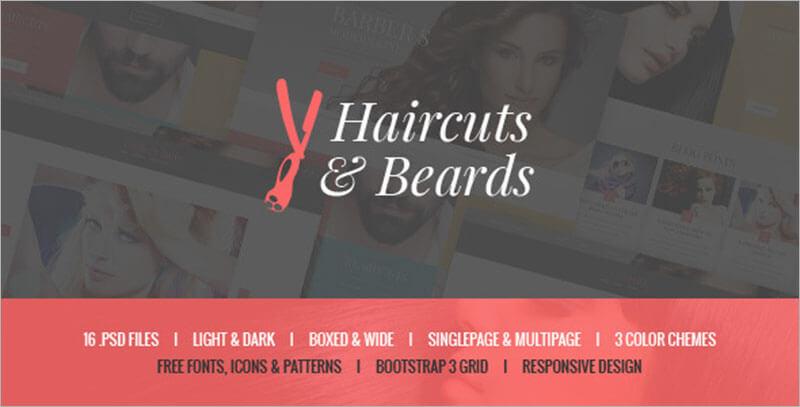 Barbershop & Hair Salon Bootstrap Template
