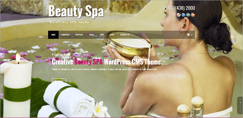 Beauty SPA Creative WordPress Theme