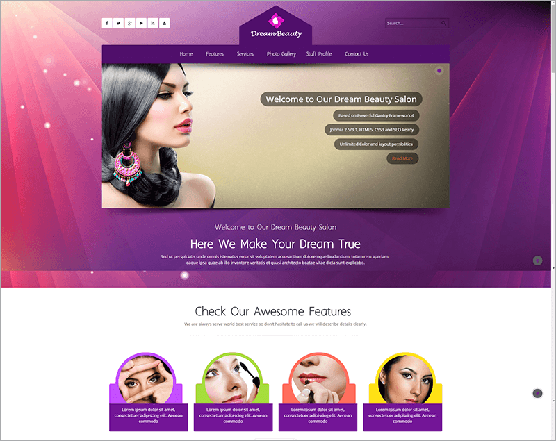 Beauty Salon Responsive Html Template
