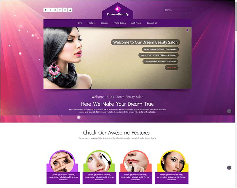 Beauty Salon Responsive Html Template