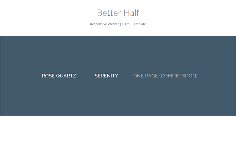 Better Half Wedding HTML Template