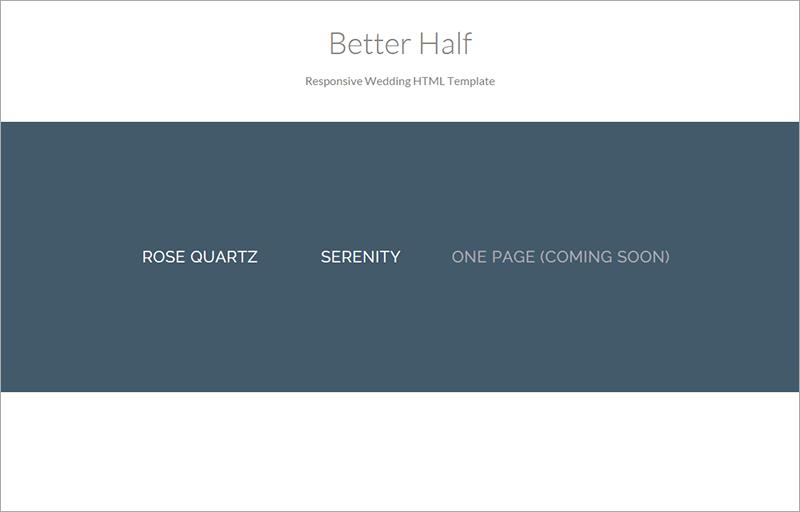 Better Half Wedding HTML Template