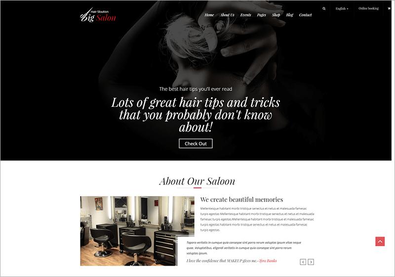 Big Salon Beauty & Barber Site Template
