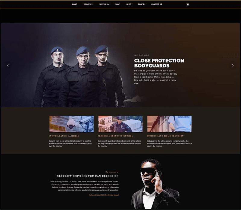 Bodyguard Security WordPress Theme
