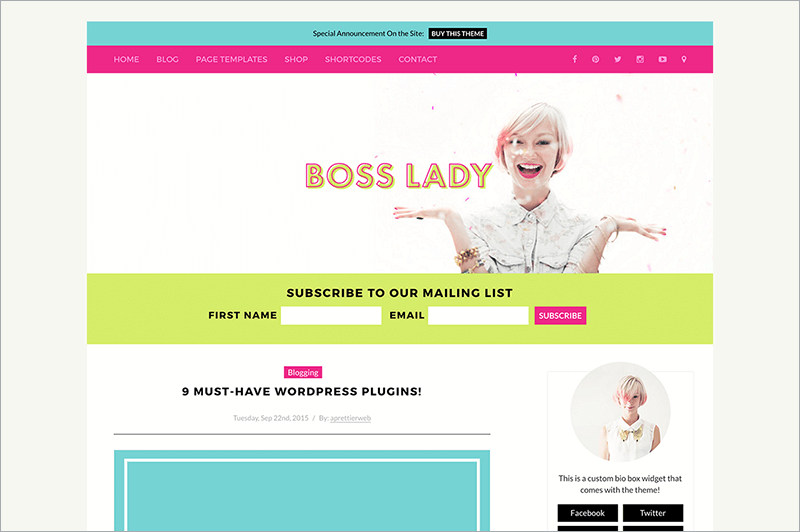 Boss Lady for Women Entrepreneurs Template
