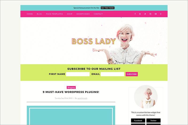 Boss Lady for Women Entrepreneurs Template