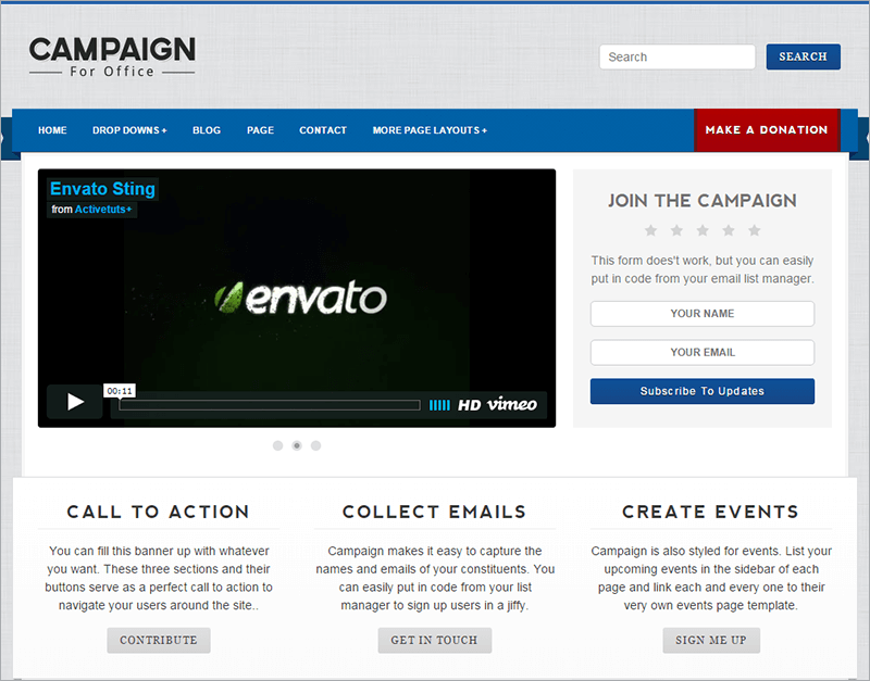 Campaign Political HTML Template