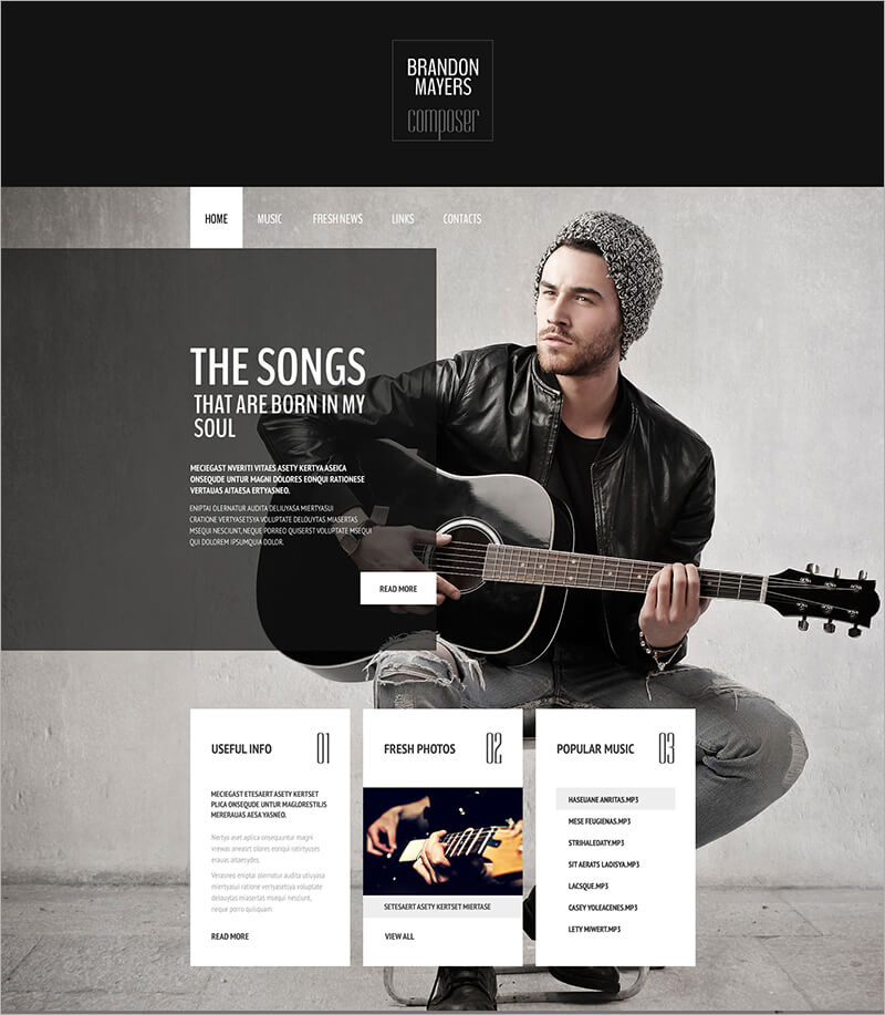Composer Portfolio Website Template