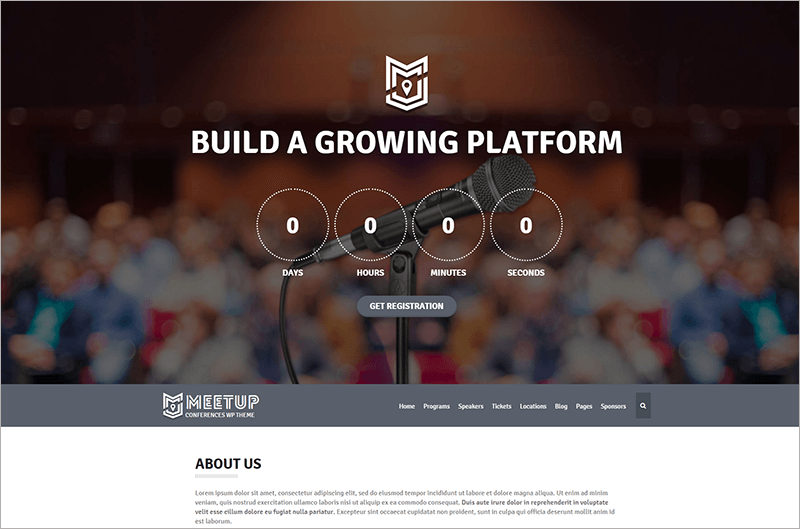 Conference Event Bootstrap Theme