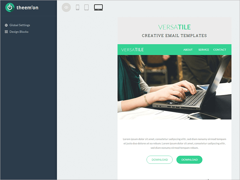 Creative E Newsletter Template